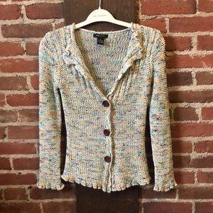 BCBGMAXAZRIA loose knit multi colored cardigan